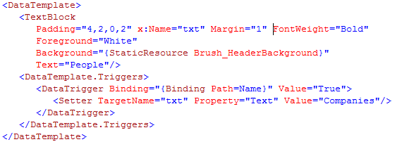 XAML before beautification